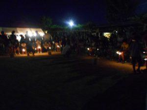 鶴甲北公園は打ち上げ花火は禁止です。最後に手持ち花火を皆で楽しみました。