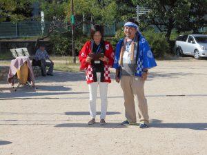 丸田会長と司会の時本さん