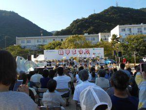 長峰中学校吹奏楽部の皆さんです