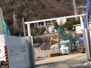 旧鶴甲会館撤去工事2021年3月10日